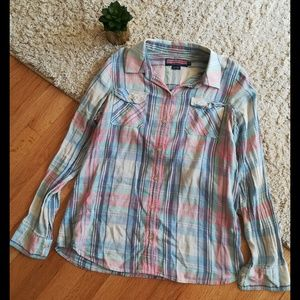 VIneyard Vines Button Down Pastel Top